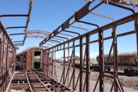 Train Car Frame at Uyuni Train Cemetary