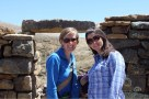 Allison, Eve with ruins on Isla del Sol