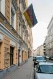 Nie wieder Deutschland — Graffiti an einem Verbindungshaus einer Studentenverbindung in Wien