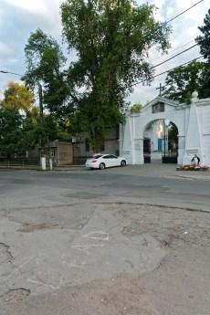 Haupteingang zum Friedhof in Kischinau