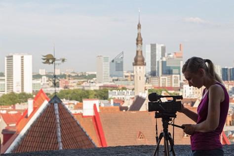 Videoarbeiten in der Altstadt von Tallinn