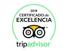 Certificado de excelencia Tripadvisor GO experiene