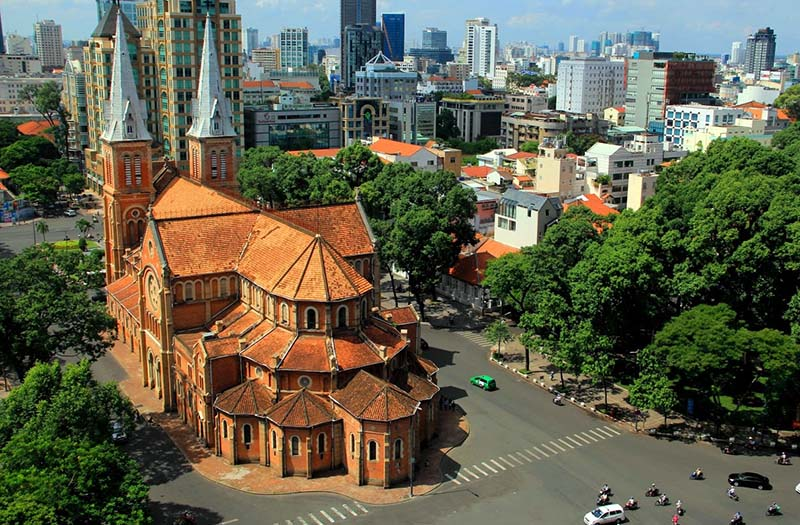 The Notre Dame Cathedral, Ho Chi Minh city, Vietnam