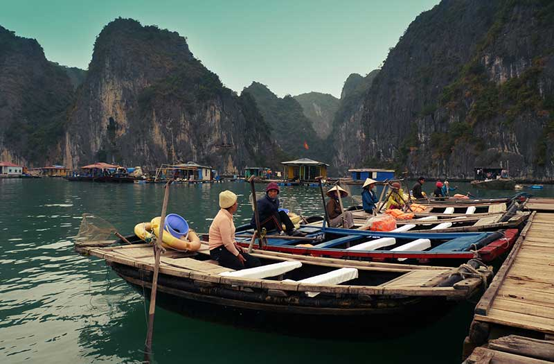 Ba Hang Floating Fishing Village, Halong Bay, Vietnam