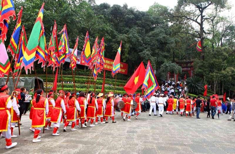 Hung Temple Festival in Viet Tri, Phu Tho, Vietnam