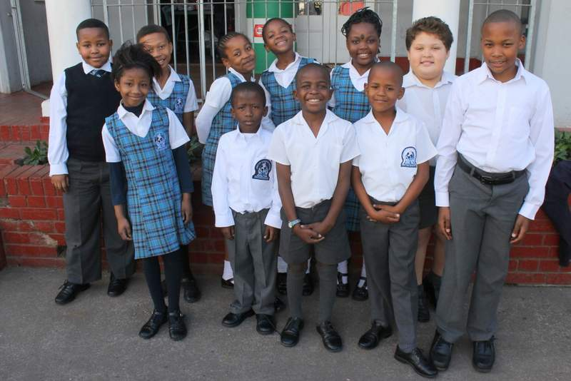 GREAT OPPORTUNITY: Happy Grade 3 pupils at Ariston Christian School , which is situated in St Matthews Road. The school will be giving away 10 bursaries for academically excelling and economically disadvantaged pupils in celebration of their third birthday next year. Applications are now open Picture: SARAH KINGON