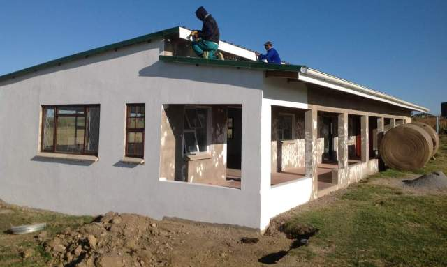 OPENING SOON: A new  crèche  being built at  Ixgara  Village, Morgan Bay, to be officially opened in the new school term, is taking shape.