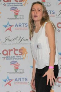 STARRY DREAMS: Demi Muller performs a monologue during the  International   Arts   Talent   Showcase  auditions at Hoërskool Grens recently. Of the 32 people who auditioned, 21 were scouted for the next round in Johannesburg in October Picture: SARAH KINGON