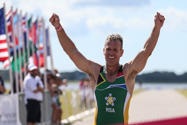 MEDAL MAN: Rodney Westgate, who competed in the Masters A category at the World  Biathle  Championships in the US at the weekend, won silver in the individual event and gold in both the team relay event and the team event.