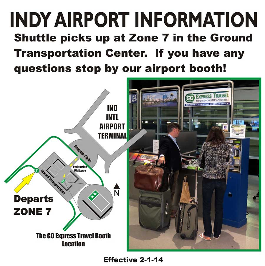 INDY Airport Map