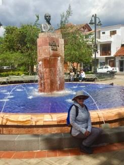Walking in old town Cuenca, Ecuador