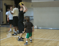 basketball camp with my son, cu boulder