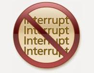 don't interrupt sign symbol