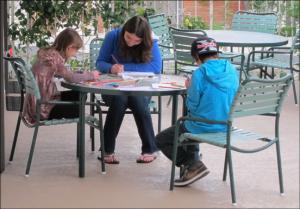 Kids Making Holiday Greeting Cards