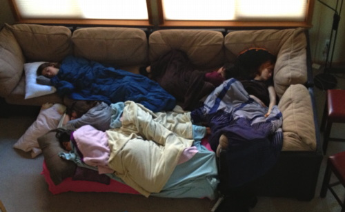 girls sleeping