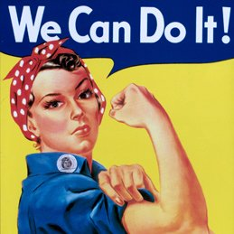 We Can Do It WWII retro image
