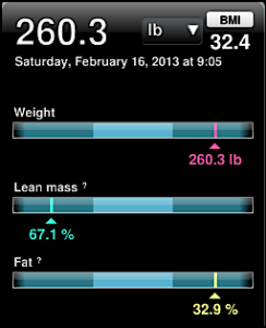 feb 16 weight data