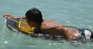 boy boogie boarding