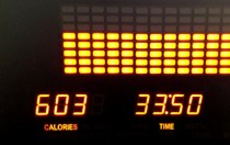 603 calories on a treadmill