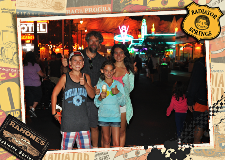 disneyland night with children