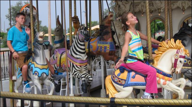 Enjoying the Great Park Carousel