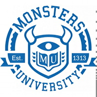 disney pixar monsters university logo