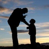 dad disciplines child