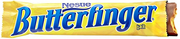 delicious nestle butterfinger bar unwrapped