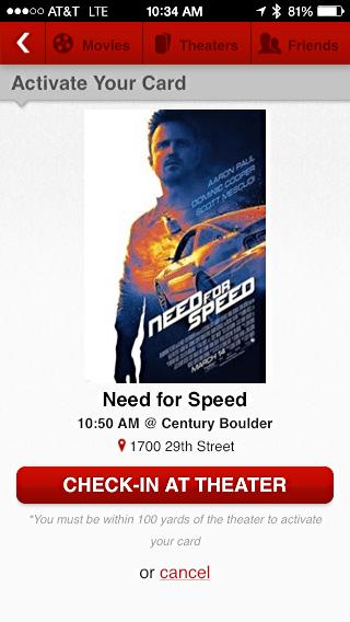 moviepass - film need for speed