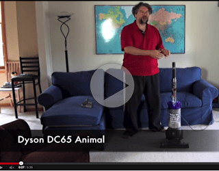 youtube video review dyson dc65 upright vacuum cleaner animal