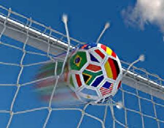 soccer ball going into net, 320x250