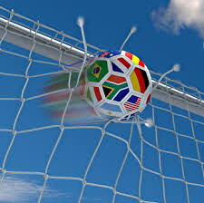 soccer ball going into net