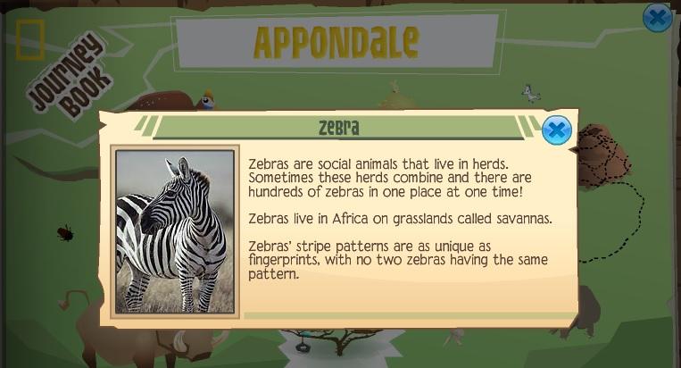 animal jam - african zebra