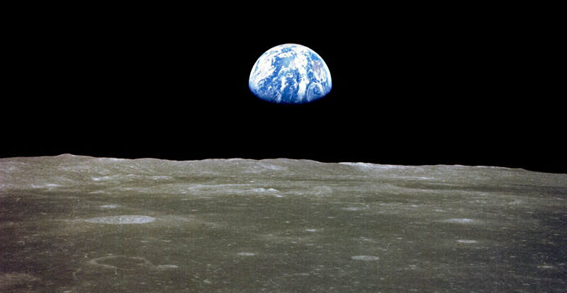 earth from the moon, apollo 11