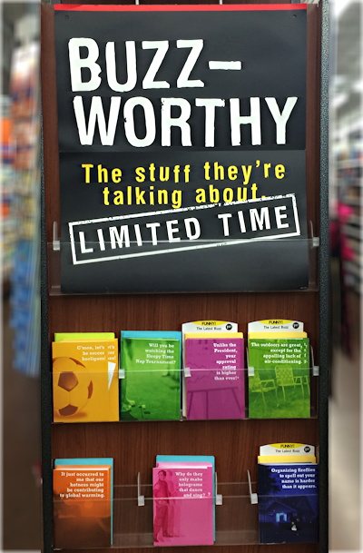 buzzworthy cards display at walmart