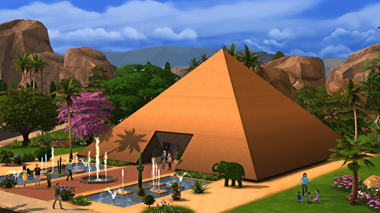 pyramid house, the sims 4