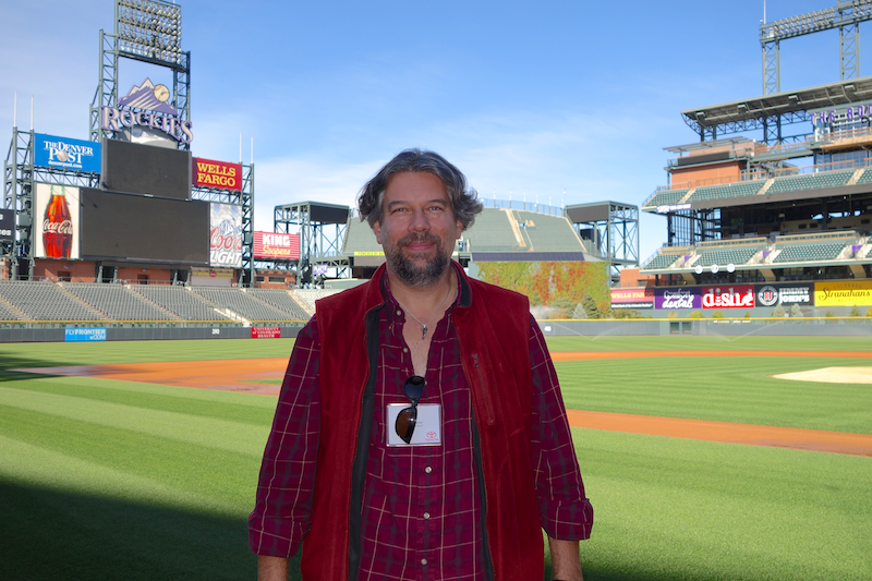 dave taylor standing on the field diamond coors field baseball