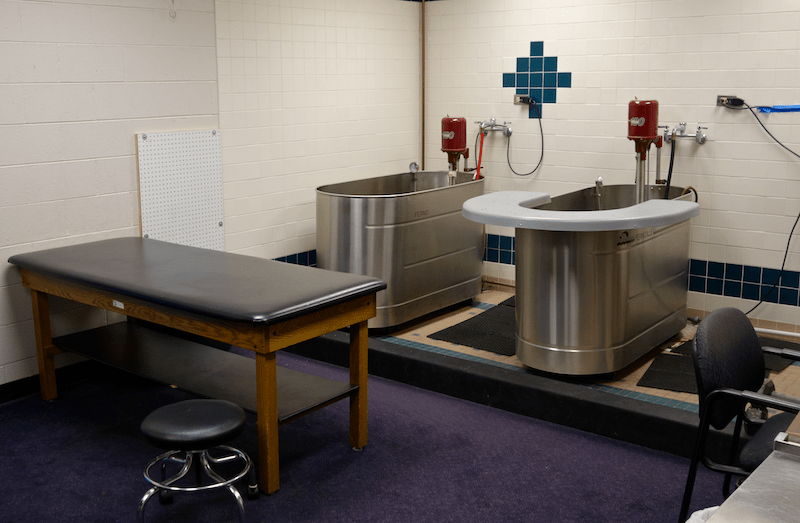 therapy and massage room at the ballpark