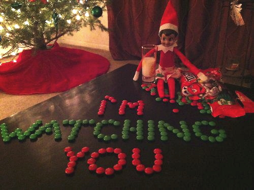 creepy elf on the shelf