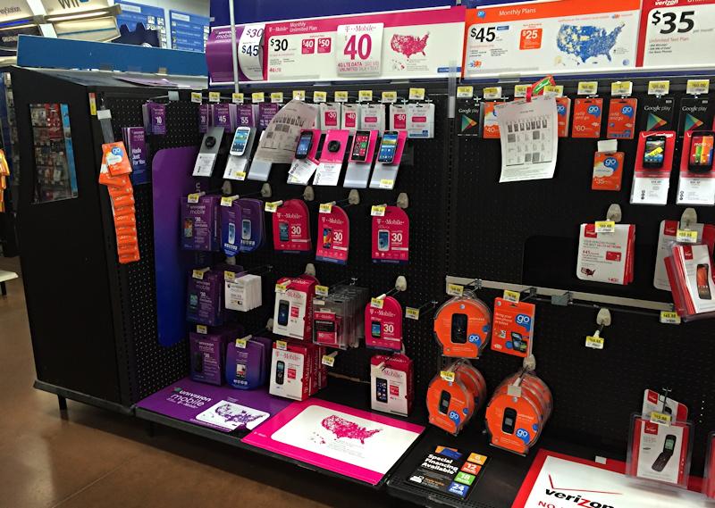 walmart zte zinger aisle store display