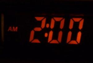 clock at 2am