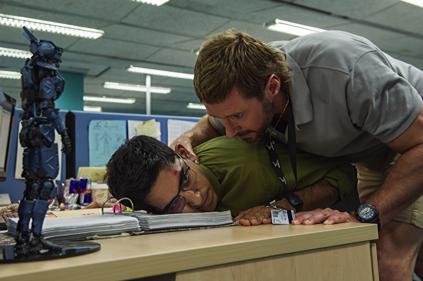 hugh jackman, dev patel from chappie