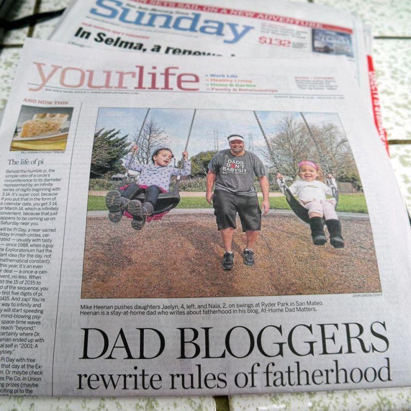dad bloggers reinventing fatherhood  newspaper story
