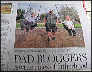 dad bloggers rewrite the rules of fatherhood newspaper article quoted interviewed dad father