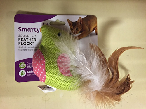 free cat toy - tweeting bird