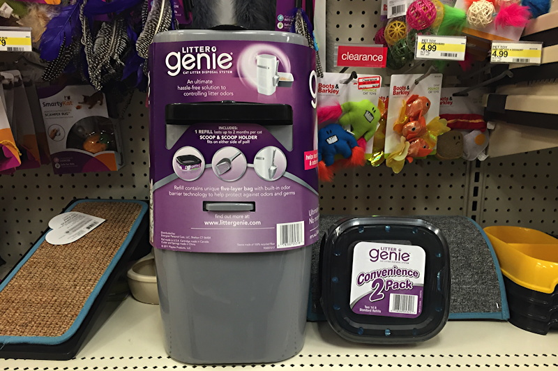 litter genie on the shelf at target