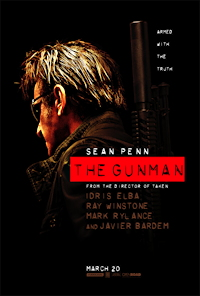 the gunman movie poster one sheet