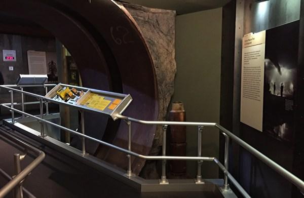 interior shot, national atomic testing museum