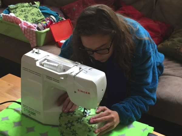 glasses on while sewing