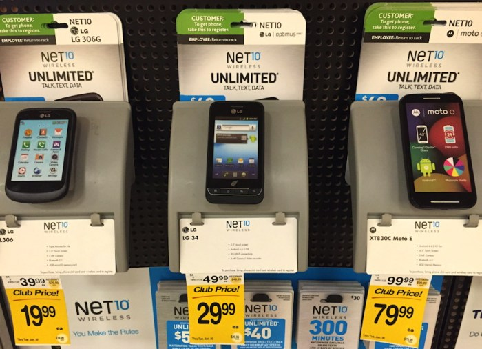 net10 phone options at safeway